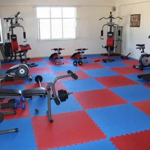 Spor salonu zemin yapımı